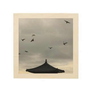 Korean Friendship Bell Wood Canvas Template Square