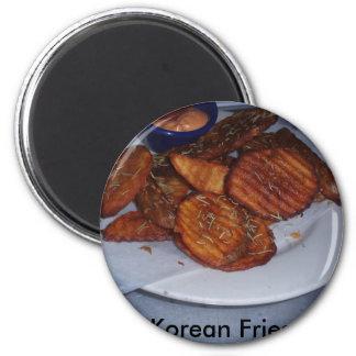 Korean fries 2 inch round magnet