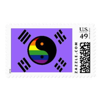 Korean GLBT Pride Flag Postage Stamp