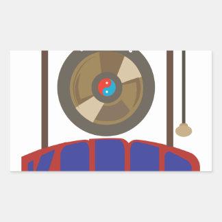 Korean Gong Rectangular Sticker