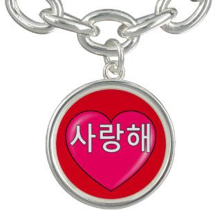 Korean - I love you Charm Bracelet