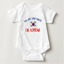 Korean Kimchi Baby Bodysuit