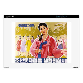 Korean Ladies Wearing Hanbok Decals For Laptops