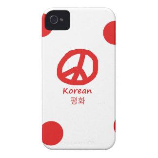 Korean Language And Peace Symbol Design Case-Mate iPhone 4 Case