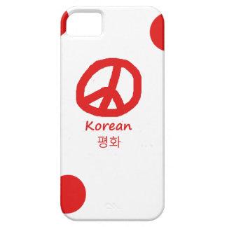 Korean Language And Peace Symbol Design iPhone SE/5/5s Case