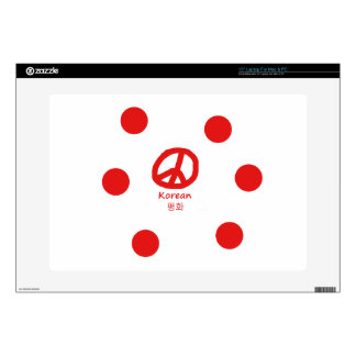 "Korean Language And Peace Symbol Design Skin For 15"" Laptop"