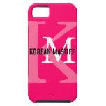Korean Mastiff Monogram iPhone SE/5/5s Case