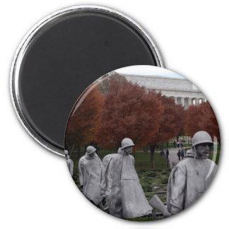 Korean Memorial and Lincoln Memorial Fall Magnet