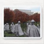 Korean Memorial and Lincoln Memorial Fall Mouse Pad