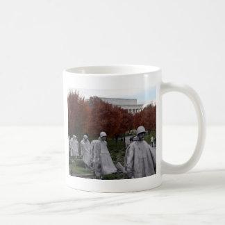 Korean Memorial and Lincoln Memorial Fall Coffee Mugs