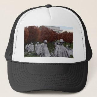 Korean Memorial and Lincoln Memorial Fall Trucker Hat