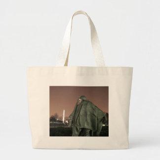 Korean Memorial and Washington Monument at night Bags