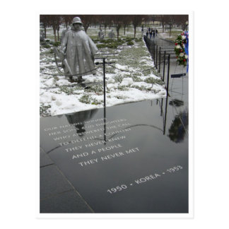 korean memorial border postcard