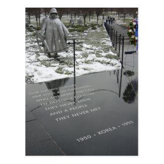 korean memorial postcard