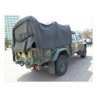 Korean military Jeep Postcard