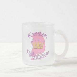 Korean Princess Frosted Glass Coffee Mug