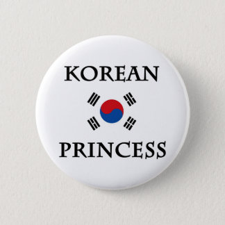 Korean Princess Pinback Button