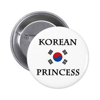 Korean Princess Pinback Button