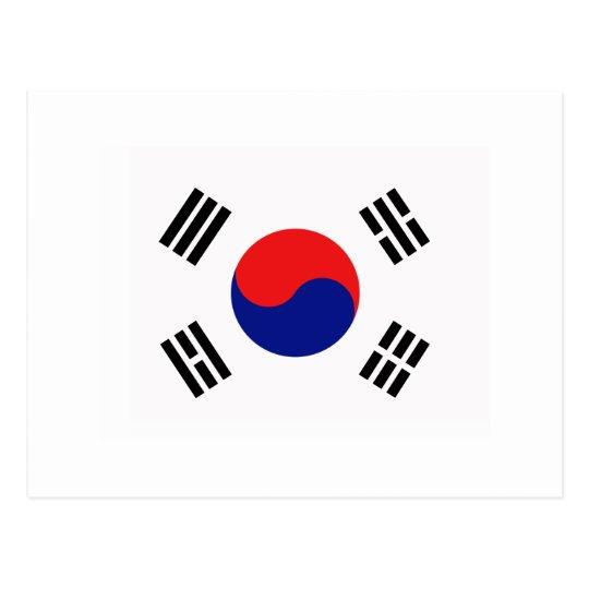 Korean Republic flag of South Korea Tees and gifts Postcard