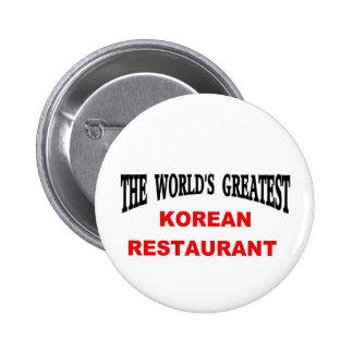 Korean restaurant pinback button