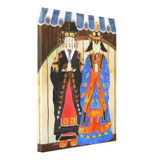 Korean Royal Wedding Wrapped Canvas Art (11x14) Canvas Print
