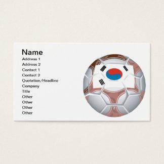 Korean Soccer Business Card