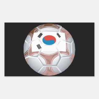 Korean Soccer Rectangular Sticker