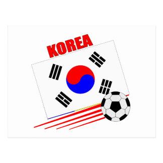 Korean Soccer Team Postcard