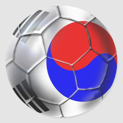 Korean Soccer Team supporters Ball Classic Round Sticker