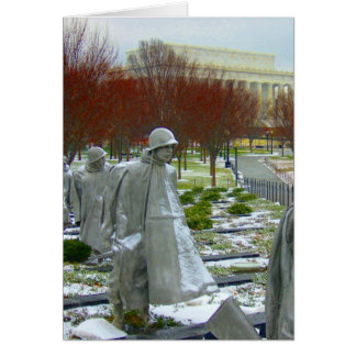 korean statue memorial greeting card