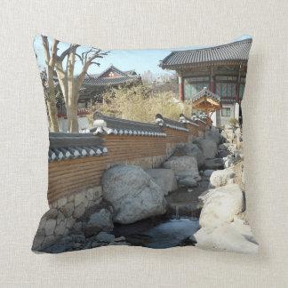 Korean stream throw pillow