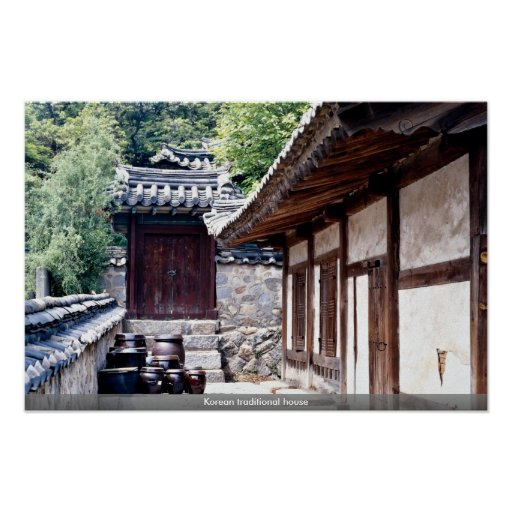 Korean traditional house poster