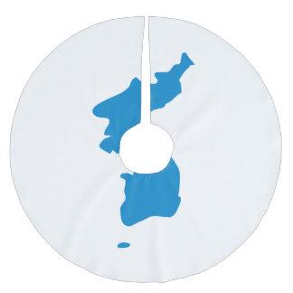 Korean Unification Flag Brushed Polyester Tree Skirt