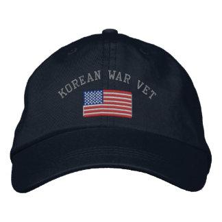 Korean Vet with American Flag Baseball Cap
