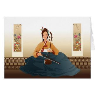 Korean violinist stationery note card