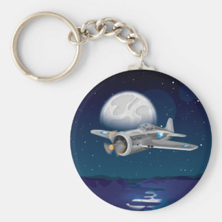 Korean War Fighter Airplane Keychain