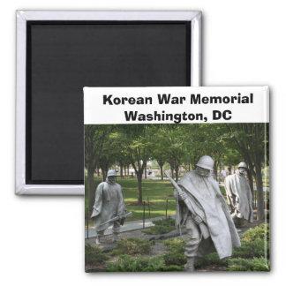 Korean War Memorial 2 Inch Square Magnet