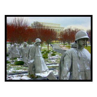 korean war memorial border postcard