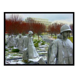 korean war memorial border post cards