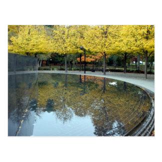 Korean War Memorial in Fall Postcard