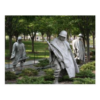 Korean War Memorial Postcard