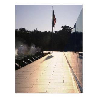 Korean War Memorial sunrise Postcard