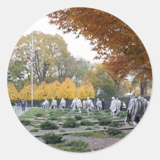Korean War Memorial veterans Classic Round Sticker