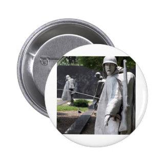 Korean War Memorial Veterans Status 2 Inch Round Button