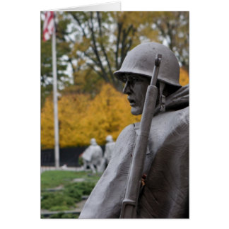 Korean War Memorial veterans Status Card