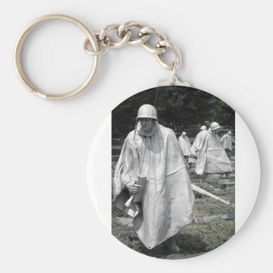 Korean War Memorial veterans Status Keychain