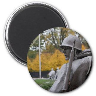 Korean War Memorial veterans Status Magnet