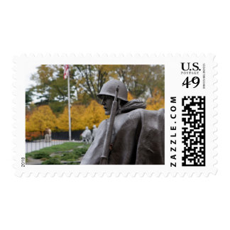 Korean War Memorial veterans Status Postage