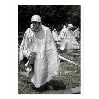 Korean War Memorial veterans Status Postcard