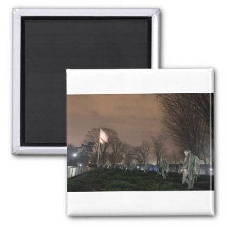 Korean War Memorial Washington Monument night Magnet